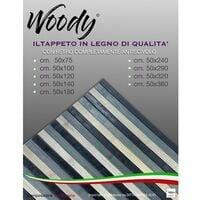 TAPPETO cucina WOODY ©IN legno BAMBOO GRIGIO NERO SFUMATO tutte le misure Cm. 50x75