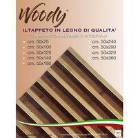 TAPPETO cucina WOODY IN legno BAMBOO MARRONE SFUMATO tutte le misure Cm. 50x75