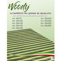 TAPPETO cucina WOODY © IN legno BAMBOO VERDE SFUMATO tutte le misure Cm. 50x75