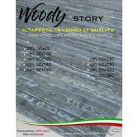 TAPPETO cucina IN LEGNO bamboo WOODY STORY unito GRIGIO Cm. 50x75