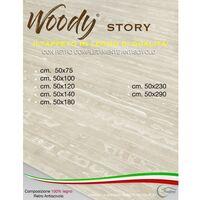 TAPPETO cucina IN LEGNO bamboo WOODY STORY unito PANNA Cm. 50x75