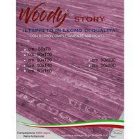 TAPPETO cucina IN LEGNO bamboo WOODY STORY unito FUCSIA Cm. 50x75
