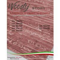 TAPPETO cucina IN LEGNO bamboo WOODY STORY unito CIGLIEGIO Cm. 50x75