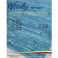 TAPPETO cucina IN LEGNO bamboo WOODY STORY unito BLU Cm. 50x75