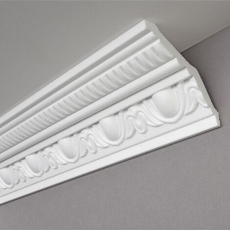 Moulure G38, 2m, polystyrène, dimensions : 105 x 105 mm - Pour plafond et mur