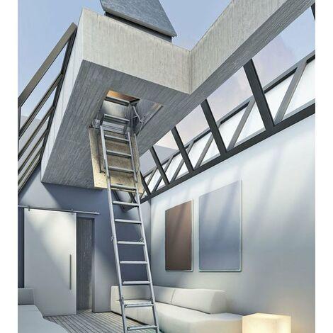 L. Escalier escamotable pour un accès terrasse de 2.81m à 3.10m - 80x130cm