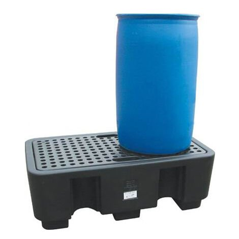 A. Bac de rétention polyéthylène - 1300x750mm - 2 fûts - 250L