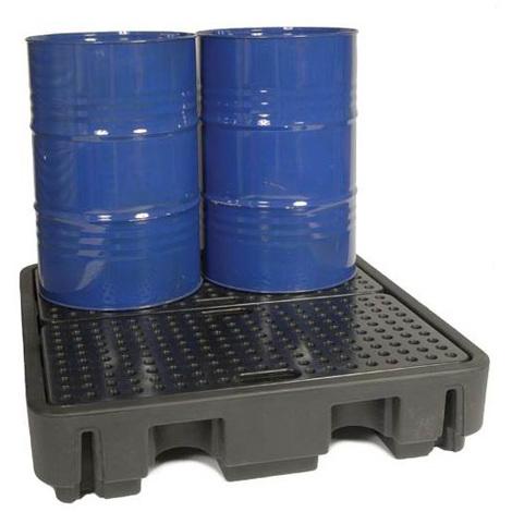 Bac rétention spécial fût d'huile - 4 fûts / Cap max 250 litres
