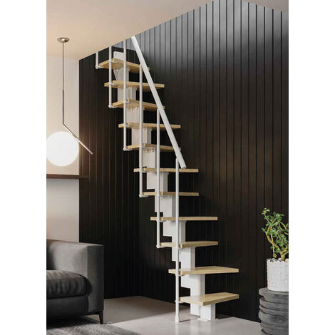 A. Escalier gain de place réglable de 2.40m à 2.84m