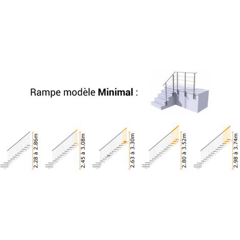 C. Escalier quart tournant - Hauteur 2.63m à 3.30m