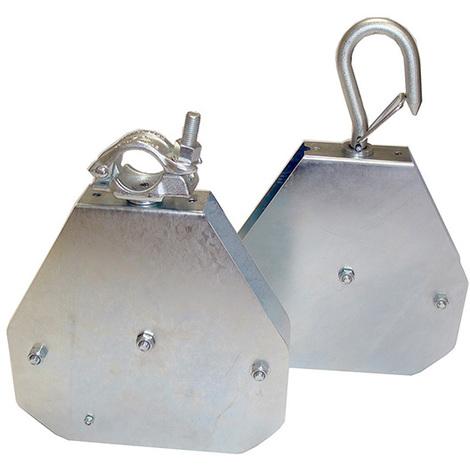 A. Poulie autobloquante pour chantier - Cap. 50kg