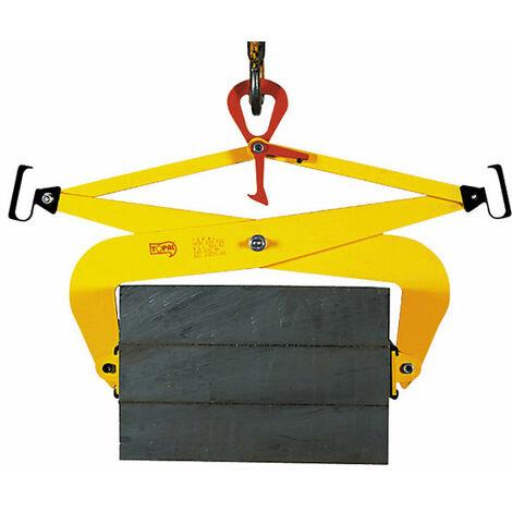 A. Pince de levage pour charge parallèle - Cap. 500kg - Ouverture 0 à 100mm