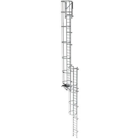 Echelle crinoline pour une hauteur à franchir de 15.40 a 15.70m
