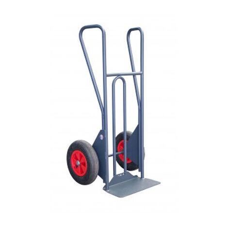 C. Diable charge lourde pour chantier - Cap 350kg - Roues pneumatiques