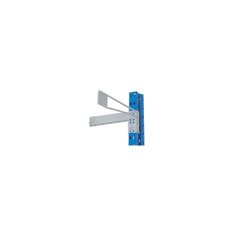 Séparateur porte-étiquette pour l'extrémité gauche du rayonnage