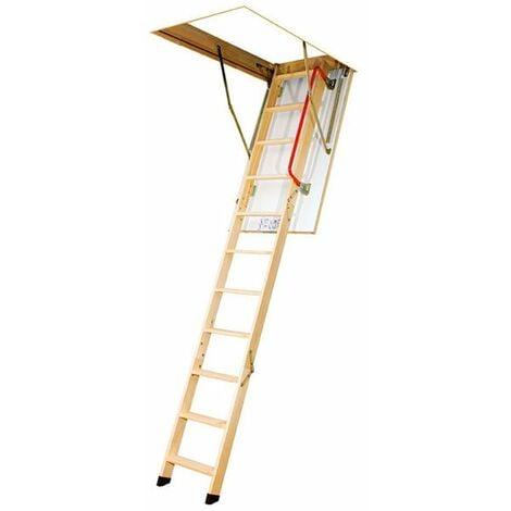 D. Echelle escamotable bois - Ouverture du plafond de 70 x 140cm