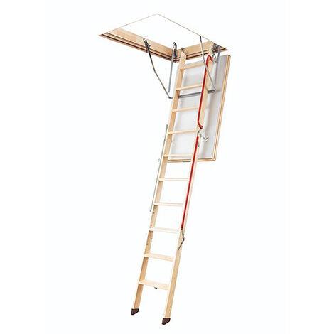 A. Echelle escamotable bois - Ouverture du plafond de 60 x 130cm