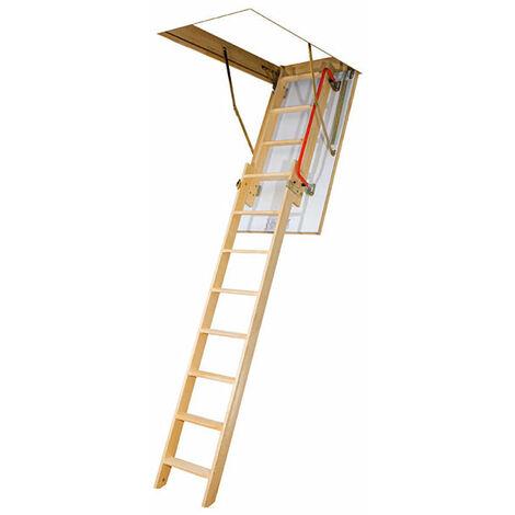 A. Echelle escamotable bois - Ouverture du plafond de 60 x 120cm