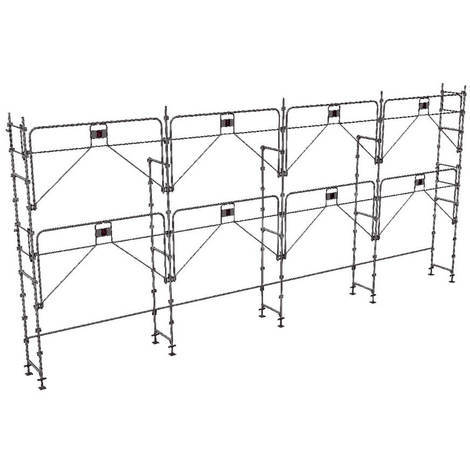 Echafaudage fixe de 78m² - Structure seule - Version garde-corps monobloc