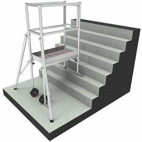A. Echafaudage pour escalier: 4m haut. travail max