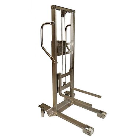 Gerbeur inox manuel robuste et polyvalent - Hauteur max 1250 mm