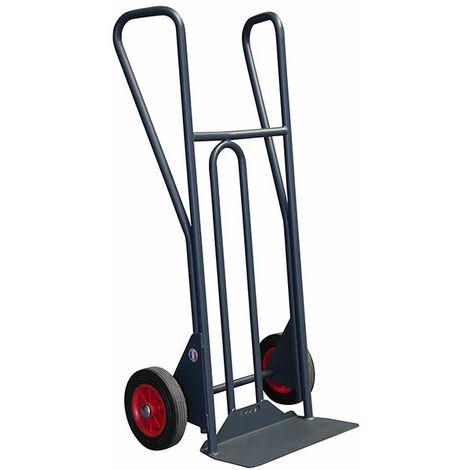 B. Diable acier charge 350kg - Roues pneumatiques et poignées larges