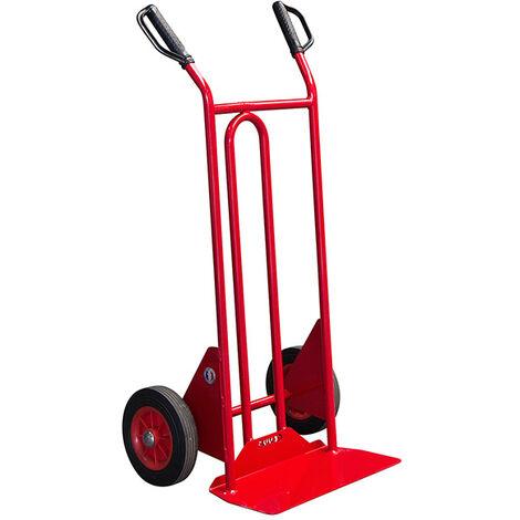 B. Diable acier charge 250kg - Roues pneumatiques et poignées à gardes