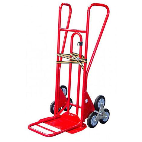 A. Diable 3 roues pliant charge 250kg - Roues caoutchouc