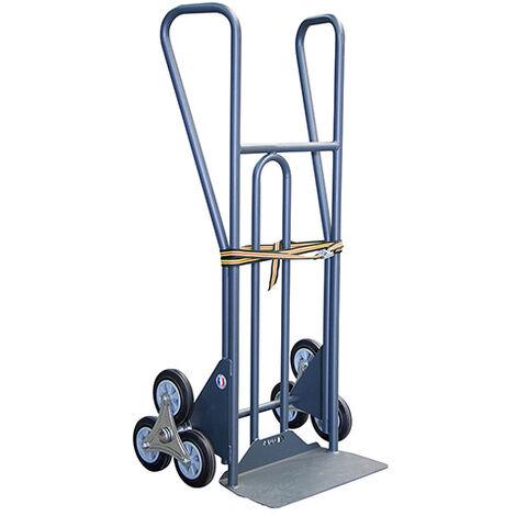 A. Diable 3 roues charge 350kg - Roues caoutchouc