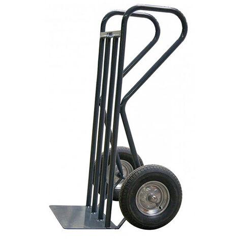 B. Diable acier charge 500kg BTP - Roues pneumatiques