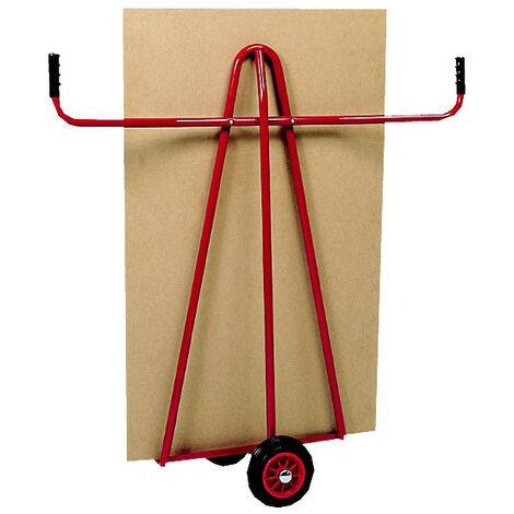 A. Chariot porte panneaux 300kg - Roues caoutchouc