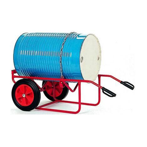 A. Chantier à fûts mobile 250kg - Roues caoutchouc