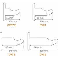 B. Console à visser pour radiateur fonte colonne - Longueur de 120mm