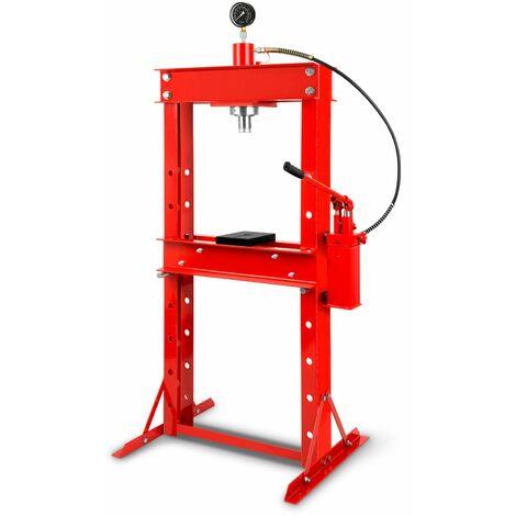 30 T Presse hydraulique datelier avec Manomètre (820 mm Hauteur de travail, Réglable 8 niveaux, 530 mm Largeur de travail)