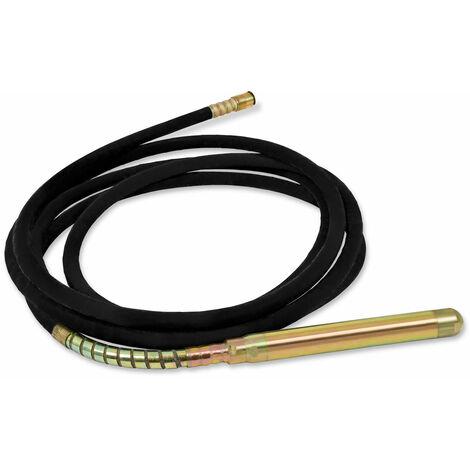 10m Aiguille vibrante de remplacement pour Vibreur à béton (Aiguille vibrante Ø 60 mm, Longueur du Tuyau 10 m, Renforcement en acier)