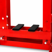 Presse datelier 10t avec manomètre (2 mors, rentrée automatique du piston, hauteur de travail 375 mm, largeur de travail 350 mm) hydraulique