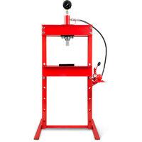 12 T Presse hydraulique datelier avec Manomètre (635 mm Hauteur de travail, Réglable 8 niveaux, 425 mm Largeur de travail)