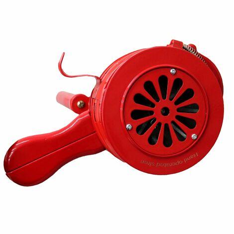 Oypla Hand Operated Crank Air Raid Safety Siren Fire Emergency Alarm