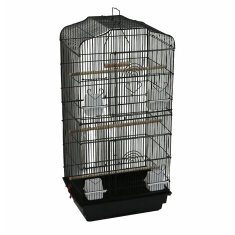 Oypla XL Large Metal Bird Cage Budgie Canary Finch Parrot Birdcage