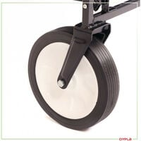 Oypla Black Heavy Duty Foldable Garden Trolley Folding Cart Wagon Truck Wheelbarrow