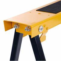 Oypla 2x Saw DIY Garage Work Bench Carpentry Building Trestles Load 100KG