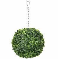 Oypla Artificial Hanging 28cm Topiary Tree Boxwood Buxus Ball
