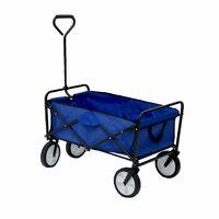 Oypla Blue Heavy Duty Foldable Garden Trolley Cart Wagon Truck Wheelbarrow
