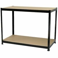 Oypla Industrial Heavy Duty Steel Workbench Table Shelving Garage Shed