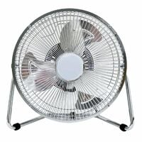 "Oypla 9"" Inch Chrome 3 Speed Floor Standing Gym Fan Hydroponic"
