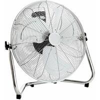 "Oypla Electrical 20"" Inch 50cm Chrome 3 Speed Floor Standing Gym Fan Hydroponic"
