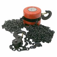 Oypla 2 Ton Chain Lifting Block & Tackle Hoist Heavy Duty Load