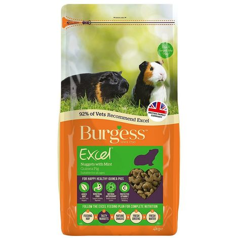Burgess Excel Adult Guinea Pig Nuggets With Mint (4kg) (May Vary)
