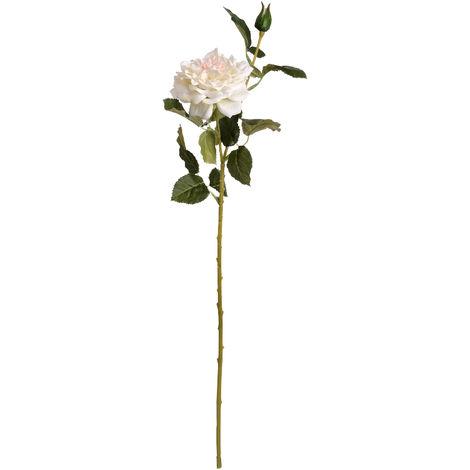 Hill Interiors Artificial Garden Rose Spray (One Size) (White/Blush Pink)