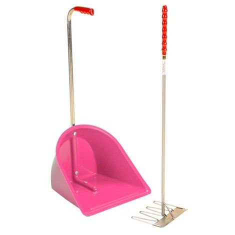 Stubbs Stable Mate Manure Collector High With Rake S4585 (One Size) (Pink)